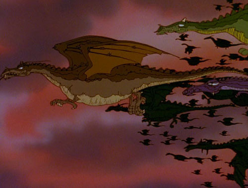 20 Awesome Obscure Movies 19. The Flight Of Dragons (1982) The Plot: When the realm of magic is threatened by the realm of logic, a great wizard summons an intellectual from the world of man, to try and unite spells and science. But it's far more exciting than that sounds – with powerful dragons, mystical knights, grotesque monsters and demonic warlocks all joining the battle for supremacy. Basically, it's what would happen if you Sellotaped some pages from The New Scientist into The Lord Of The Rings. Why So Obscure: In this epic battle between magic and science, religion doesn't get a look in. So perhaps all the gods (Jesus, Zeus, the other lot) clubbed together to conspire against Dragons ever being released on DVD in the UK. It's literally the only explanation that makes sense. How Awesome: Flight was released direct to VHS in 1982, but it gained such a following that it was unleashed cinematically in 1986. And rightly so - there's something really special about Flight Of Dragons. 
