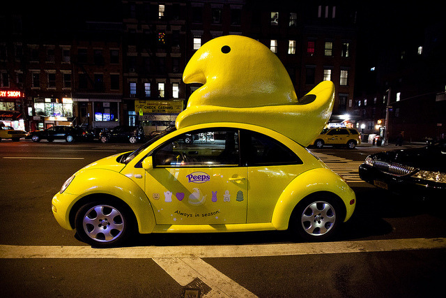 The Peeps-Mobile, gettin the chicks on 1st Ave between 10th and 11th in the East Village