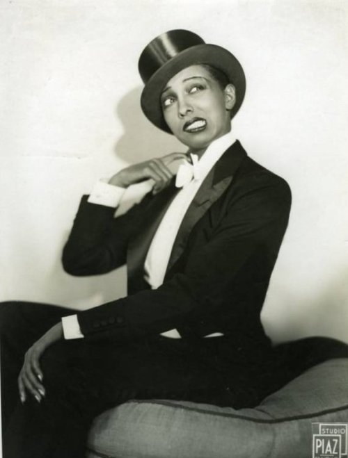 All Tuxed Out Miss Josephine  Baker ***  by Studio Piaz, 1930s via Omega418