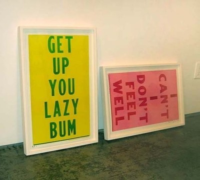 Typeverything.com 'Get Up You Lazy Bum/I Can't I Don't Feel Well' by Cary S. Leibowitz