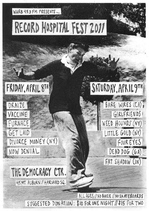 hey, boston - we're playing the whrb record hospital fest on saturday, april 9th!