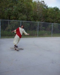 He skated for your sins