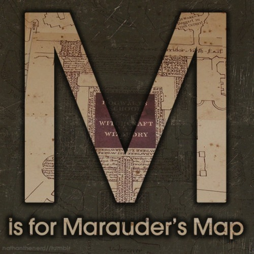 "The A to Z of Harry PotterM is for Marauder's Map""The Marauder's Map is a magical document that reveals every single inch of Hogwarts School of Witchcraft and Wizardry, including classrooms, hallways, forests and secret passages. The Marauder's Map was created by Moony (Remus Lupin), Wormtail (Peter Pettigrew), Padfoot (Sirius Black) and Prongs (James Potter)."