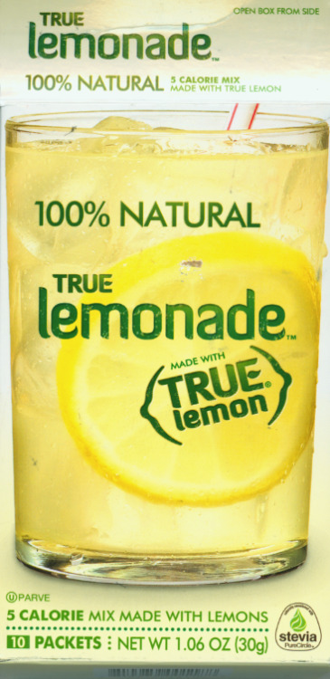 1. This product is the greatest instant lemonade drink known to man, mmmm. Made only from True Lemon and Stevia so is healthy (well, as healthy as lemonade, ie citrusy sugar water can be), and only 5 calories a packet. I use to get aspartame headaches from drinking Crystal Light and those other water flavoring powders, but not this. This is my miracle lemonade and I love it, I highly suggest giving it a try! 2. This product uses the font Diavlo, a font I was lucky enough to download for free ages ago and love; it has tons of character and yet feels very approachable. I have been dying to find a use for it in the materials I design and yet this wish still eludes me, making me very sad indeed. In short: every time I reach for a packet of True Lemonade, I am simultaneously in love with and jealous of the product. I may be the weirdest person in existence, gah.