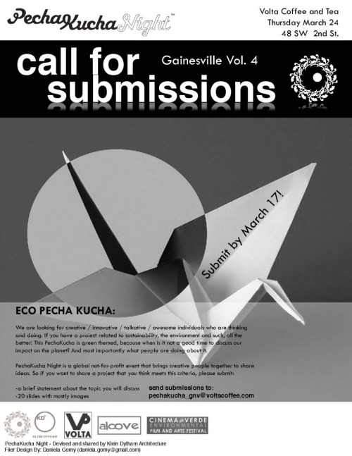 Pecha Kucha Submission Flier