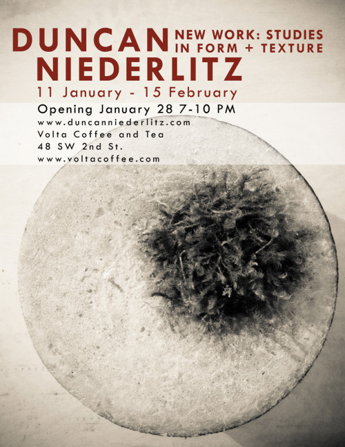 Art Show Poster for Duncan Niederlitz
