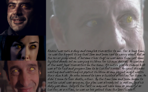 A post on the yellow-eyed demon that started it all; Azazel. Brought to you and made by Admin Two.