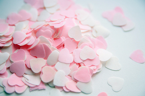 Anything heart shaped and pink is good.