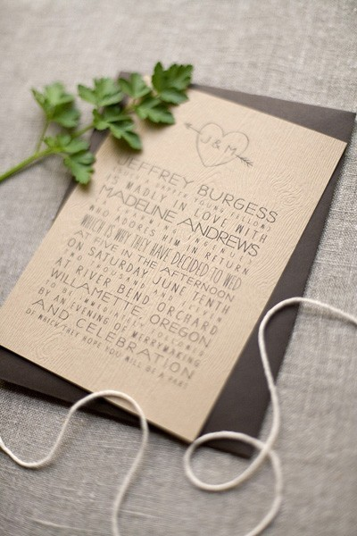 (via Faux Bois Orchard Wedding Invitations | Invitation Crush)
