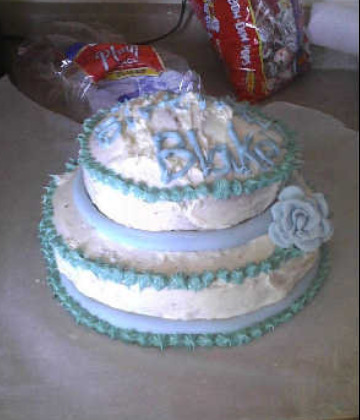 Very first cake I ever made.
