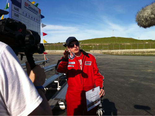 Marshall, our Facebook recruit being interviewed at the end of the challenge. He had a blast. And he held his own.