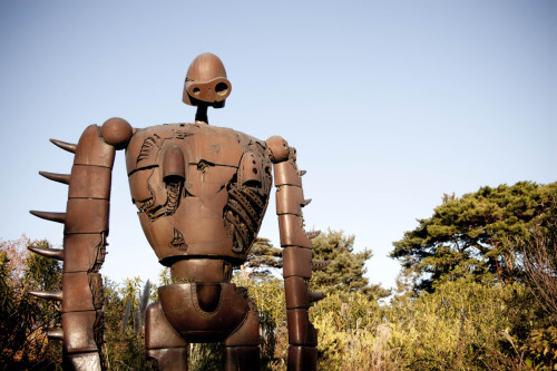 hayao-miyazaki:  It's the Robot Soldier at the Ghibli Museum in Mitaka. I really miss this place, the town in which the museum is located was very nice. The museum itself doesn't allow pictures to be taken inside which is understandable because you really have to be there to experience the amazingness of it yourself. Submitted by: studiobink    Whoa, totally want to go here someday!