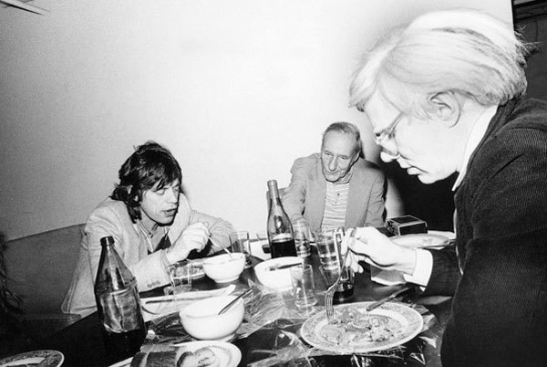 Mick Jagger, William S. Burroughs and Andy Warhol, 1980