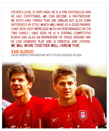 And we were spoilt by that partnership (+ Masch/Momo) until Xabi's departure in 2009. The lack of club football action (and reunion photos) always reduces me to a nostalgic wreck. Can't believe I'm saying this but I can't wait to see Roy again! ;-)