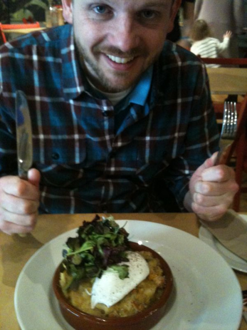 Food blog: Lunch at the River Cottage - Ben Dowden had celeriac and Jerusalem artichoke gratin