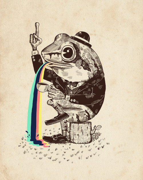 ianbrooks:  Strange Frog by Alejo Giraldo Print available at society6.