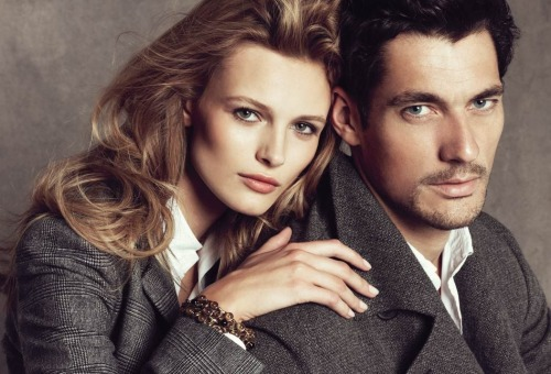 Edita Vilkeviciute & David Gandy for Massimo Dutti
