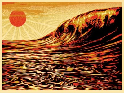 Dark Wave / Rising Sun © Obey