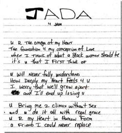 Poem by Tupac Shakur to Jada Pinkett-Smith.