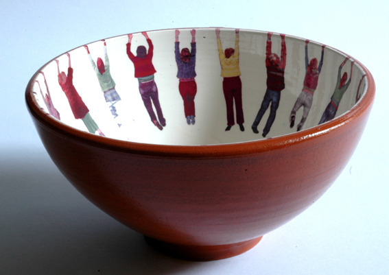vuduciel:  ceramics for breakfast name of design : hanging people breakfast bowldesign by : alice mara