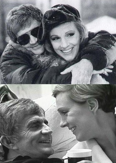 on the set of Victor/Victoria with Blake Edwards