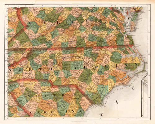cartographymaps:  J. Calvin Smith, 1855, Southeast, U.S.A.