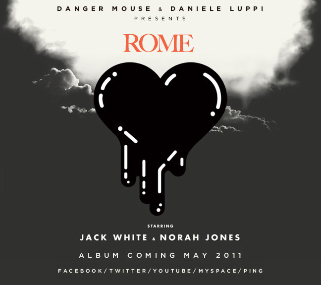 Just got this in my email. So excited for Danger Mouse's next project feat. Jack White and Norah Jones: ROME.