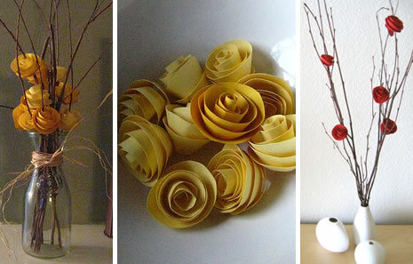 withinyouwithyou:  Paper Flowers  DIY paper flowers tutorial  www.talkcraftytome.com/2009/03/06/paper-flowers/