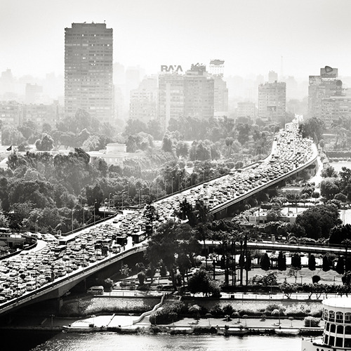 Cairo Traffic by Josef Hoflehner
