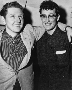 Jerry Lee Lewis & Buddy Holly. Two of the godfathers of rock n' roll. And cuties!