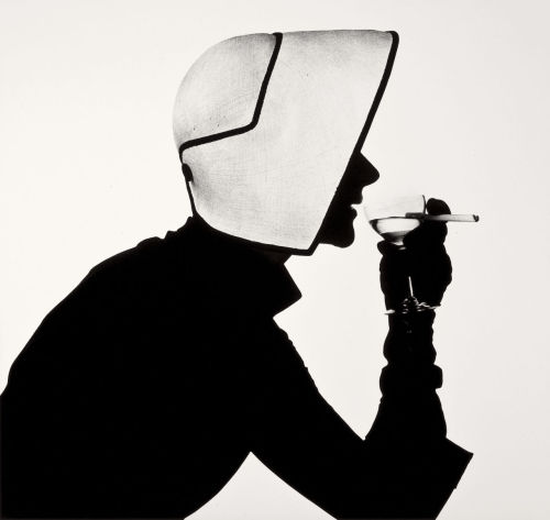 Woman in Dior Hat with Martini (Lisa Fonssagrives), 1952 by Irving penn