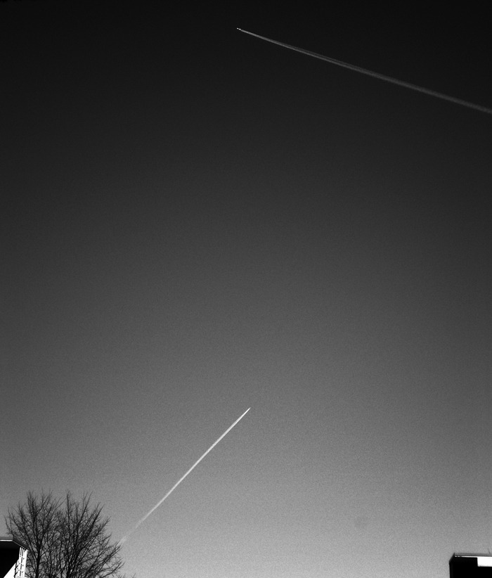 Planes on the Finnish sky.
