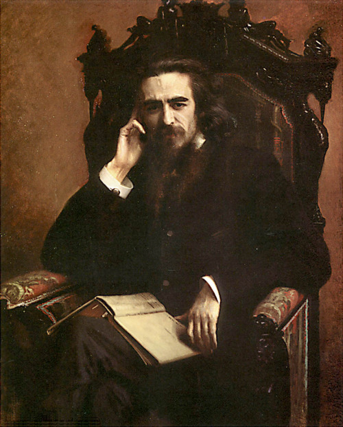 Portrait of the Philosopher and Poet Vladimir Solovyov Ivan Kramskoy (1885, St. Petersburg, The Russian Museum)