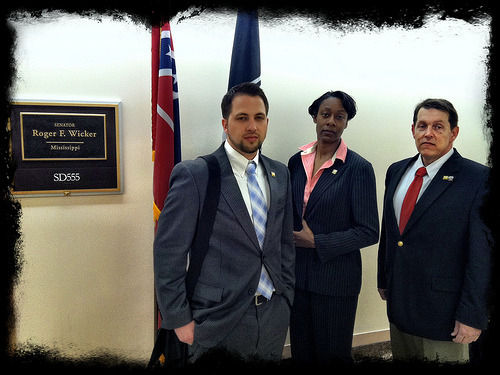 Serious faces, serious mission.  Team Golf about to meet with Sen. Wicker's office.