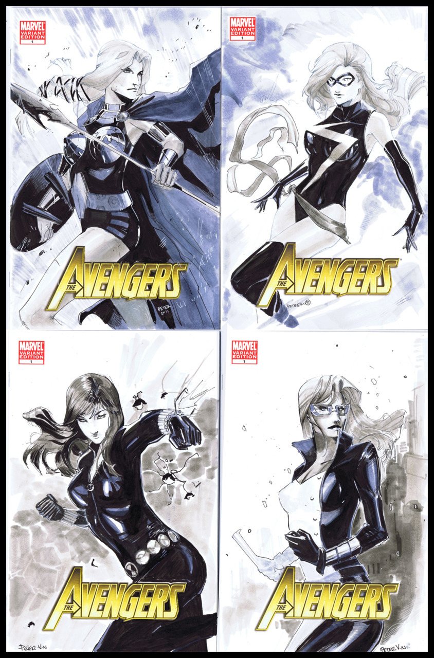 You got your four female avengers.  Mighty , secret, New and West. For a very patient commissioner .