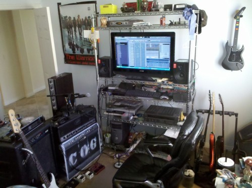 The Studio(my 400 watt 4x12 cabinet is missing from this picture along with my 4x 12 cabinet with Celestian classics)