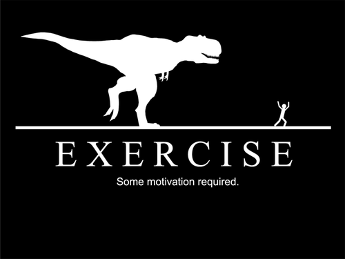 Cause if you don't move, the t-rex will in fact eat you.