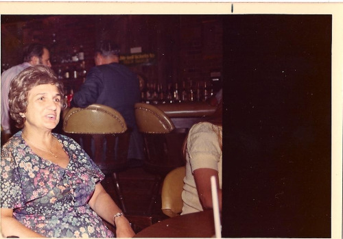 Aphrodite at the bar - Boston, late 1970's.