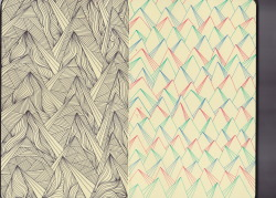 start of a new sketchbook devoted entirely to patterns…