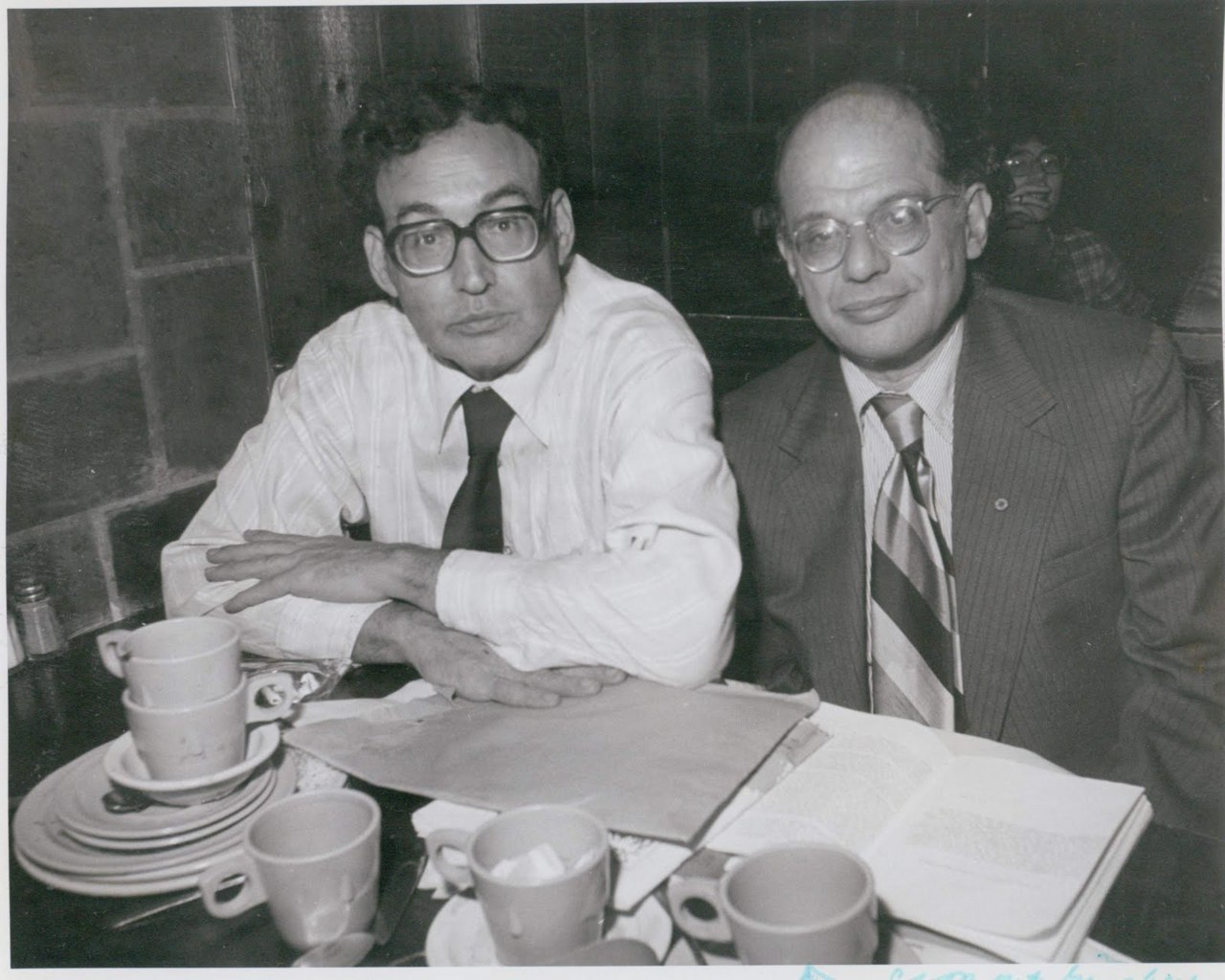 Carl Solomon and Allen Ginsberg at the West End bar, New York City, 1978. c. Michael Uffer