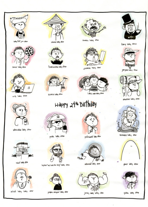 24 baby Drews for my 24th Birthday. From Gianna Ruggiero.