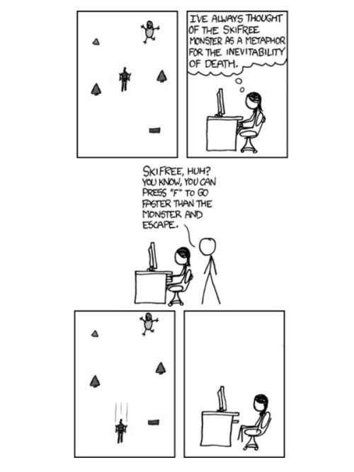 """SkiFree"" by xkcd"