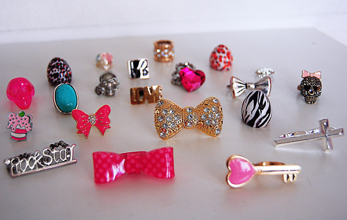 I have a slight obsession with rings. I would love to have all of these! :)