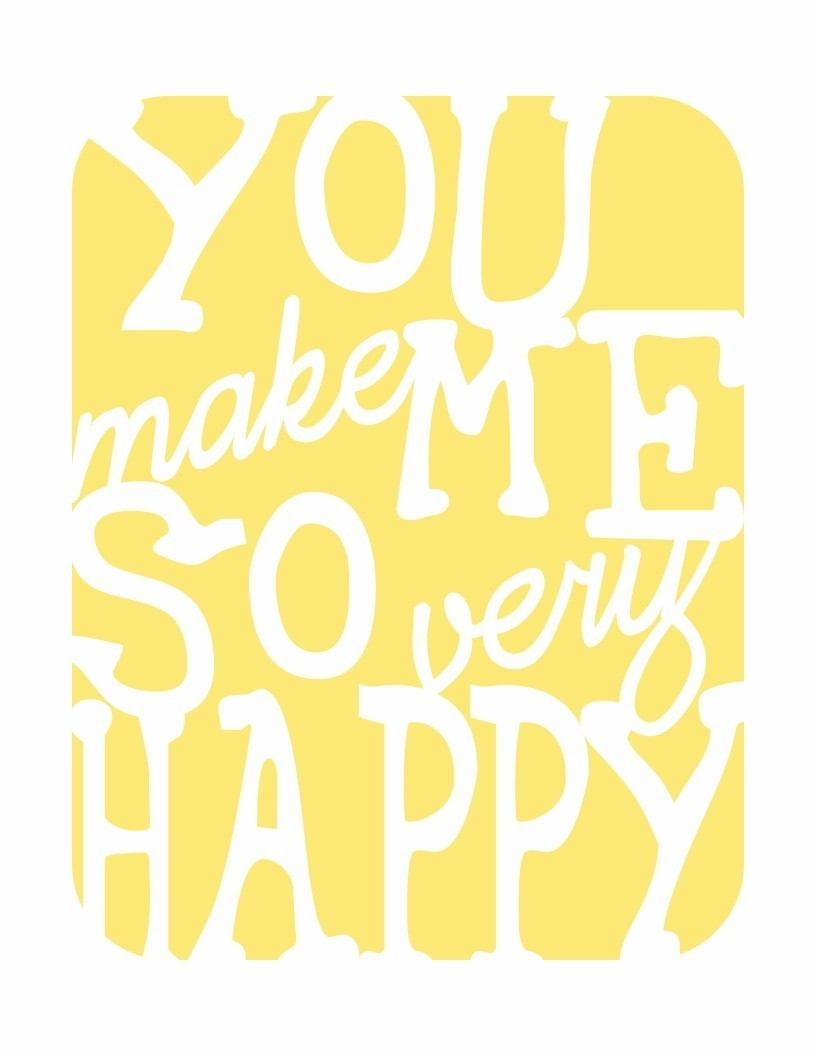 paringdown:  via sweetest petunia you make me so very happy print in sunshine yellow….