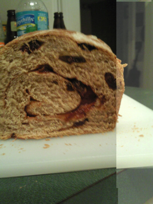 Cinnamon Raisin Bread crunchy cinnamon sugar swirl in center