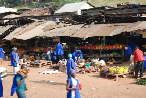 vegetable market, Uganda