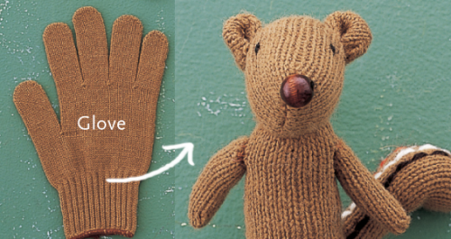 cajunmama:  (via Recycled Glove How-to: Make a Chipmunk Softie) click for tutorial