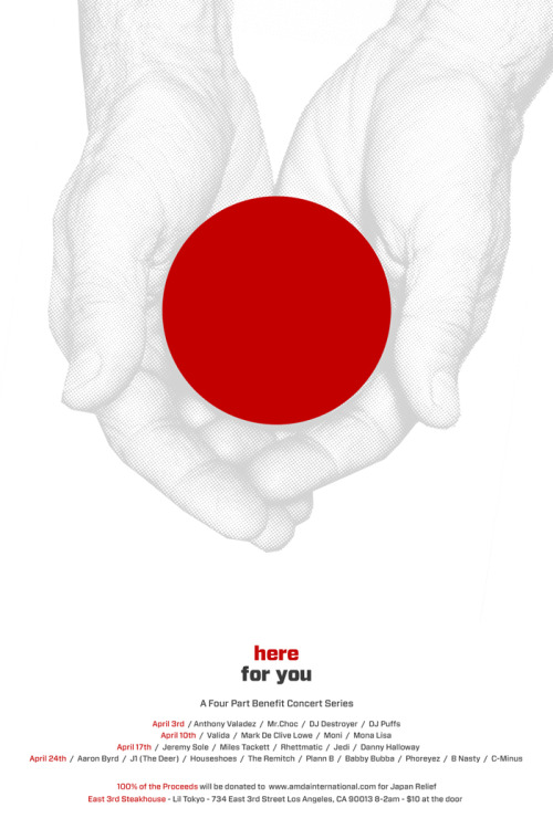 My graphical contribution to the relief effort in Japan
