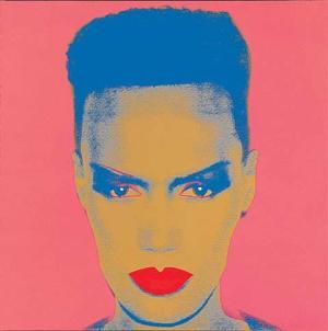 Red lip icon Grace Jones by Andy Warhol (1986)