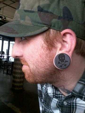 blindedbyambition:  Skull Gauges Modeled by the proud owner. Yeah. Maybe So Productions we are killing it.